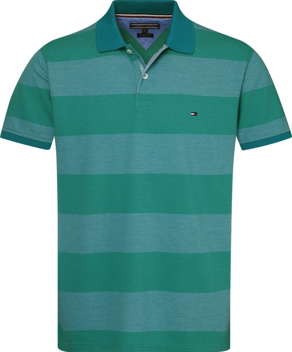 Tommy Hilfiger Poloshirt »JACQUARD STRUCTURE STRIPE POLO«