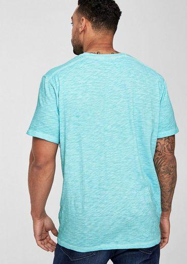 s.Oliver RED LABEL Pigment Dye-Shirt aus Flammgarn