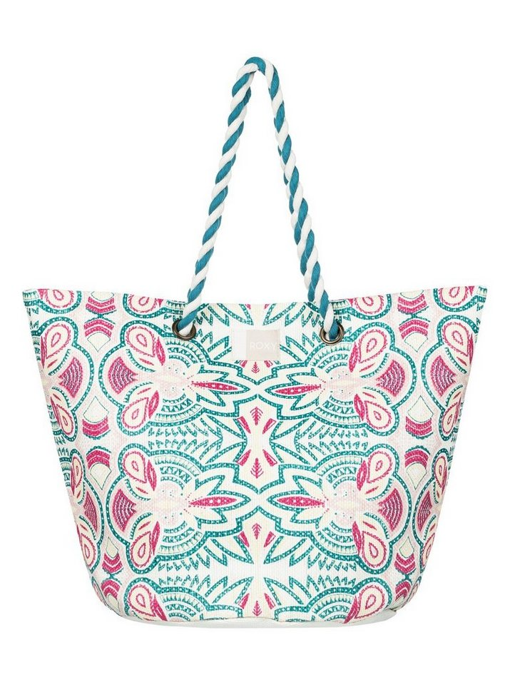 Damen Roxy Stroh-Strandtasche Sunseeker weiß | 03613373458032