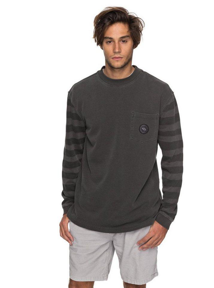 Herren Quiksilver Sweatshirt Wave Runner schwarz | 03613373367075