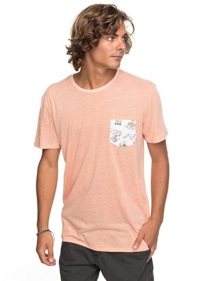 Herren Quiksilver Pocket-T-Shirt Broken Leash orange | 03613373393852