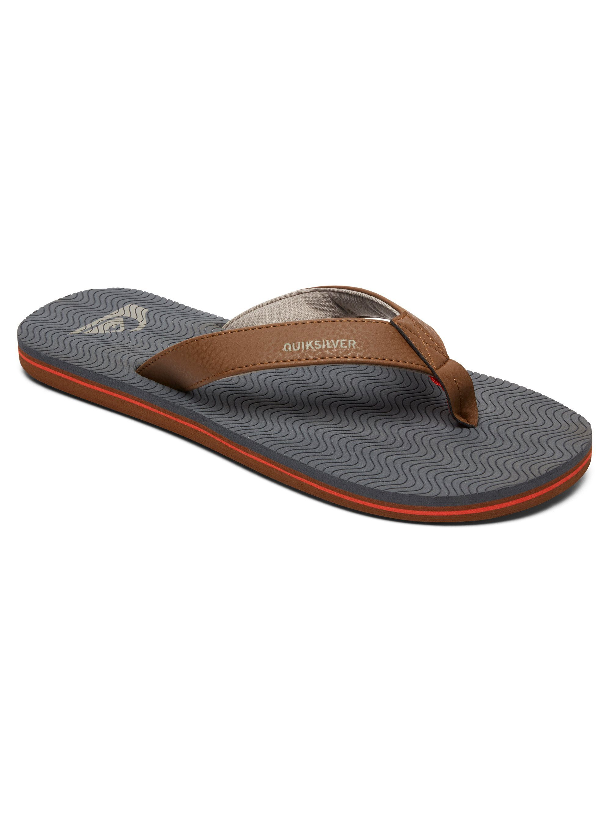Quiksilver Sandalen Molokai Laser Grip kaufen  Grey#ft5_slash#grey#ft5_slash#orange