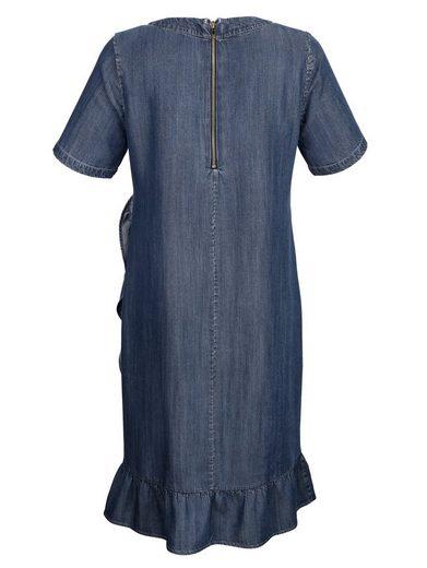 Alba Moda Kleid mit Volantbesatz am Saum