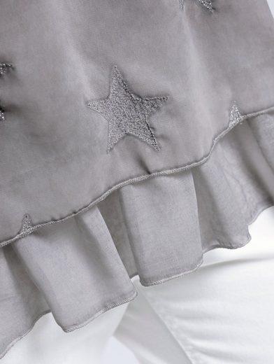 Alba Moda Bluse mit Sternen aus feinstem Lurexgarn