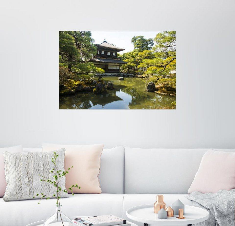 Posterlounge wandbild michael runkel silberner pavillon for Zen einrichtungsstil