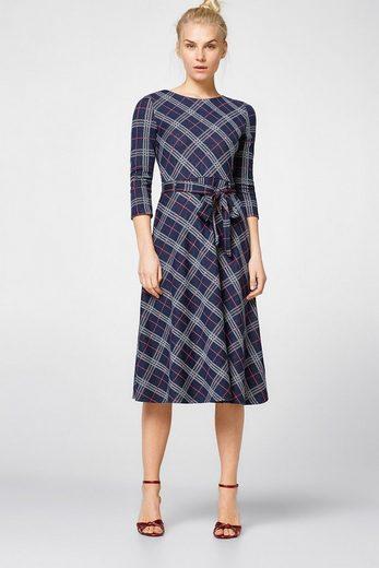 ESPRIT Midi-Kleid aus kompaktem Jersey/Stretch