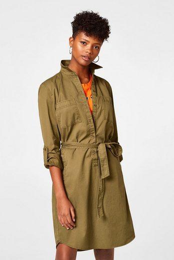 ESPRIT Hemdblusen-Kleid aus 100% Baumwolle