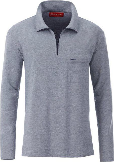 catamaran -  Langarm-Shirt mit Umlegekragen