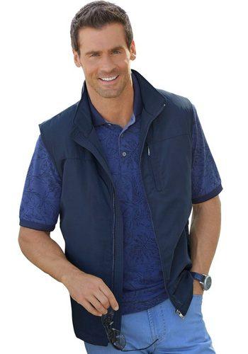Herren Marco Donati Weste mit Stehkragen blau | 08935241087904