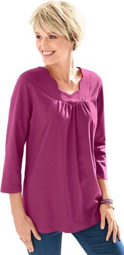 Classic Basics Shirt mit schmeichelndem Ausschnitt