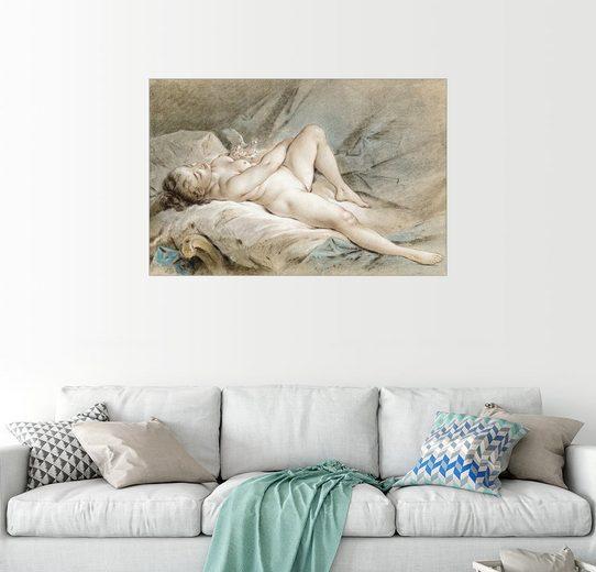 Posterlounge Wandbild - François Boucher »Leda und der Schwan«