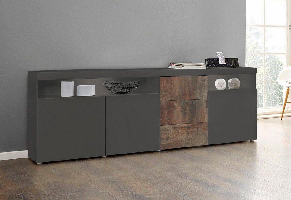 borchardt m bel sideboard kapstadt breite 200 cm mit 3 schubk sten online kaufen otto. Black Bedroom Furniture Sets. Home Design Ideas