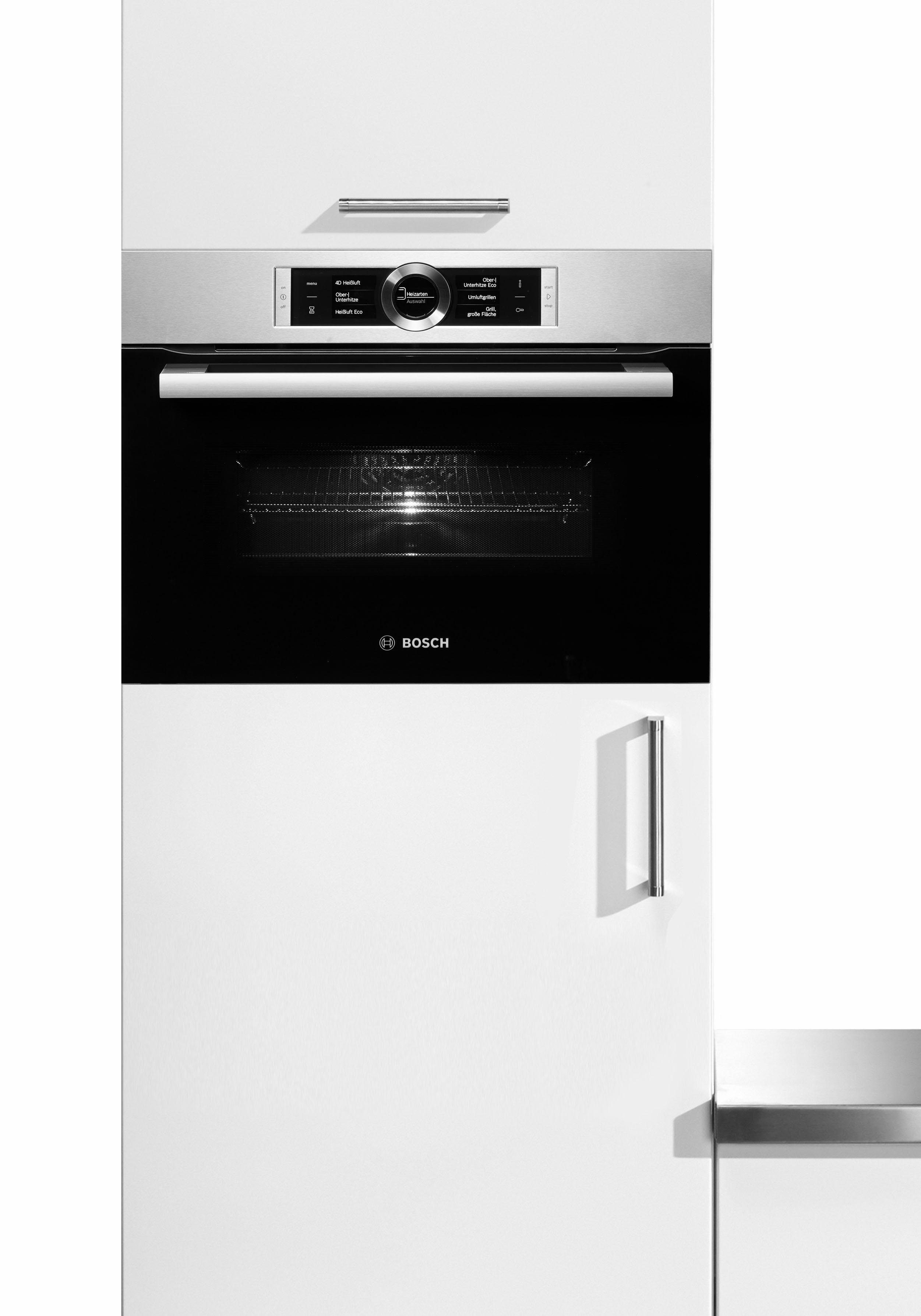 BOSCH Backofen mit Mikrowelle CMG636BS1, ecoClean