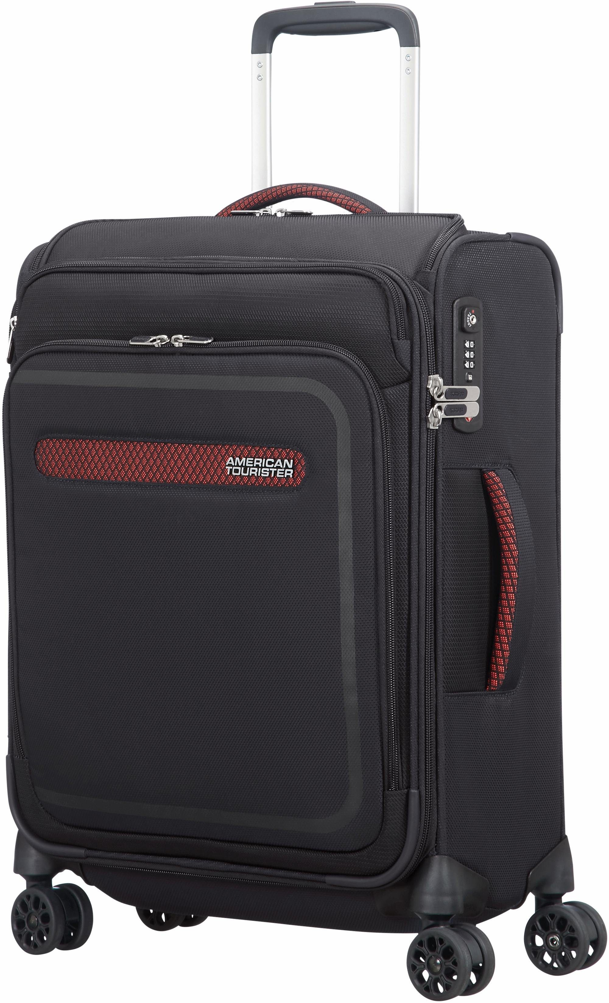 American Tourister Weichgepäcktrolley mit 4 Rollen, »AirBeat Smart Spinner, 55 cm«