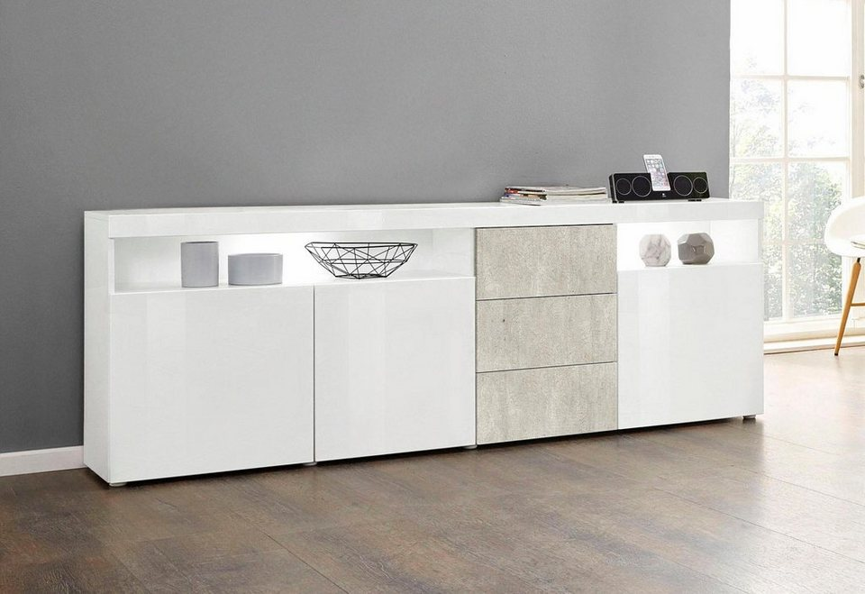 borchardt m bel sideboard kapstadt breite 200 cm mit 3 schubk sten online kaufen otto. Black Bedroom Furniture Sets. Home Design Ideas