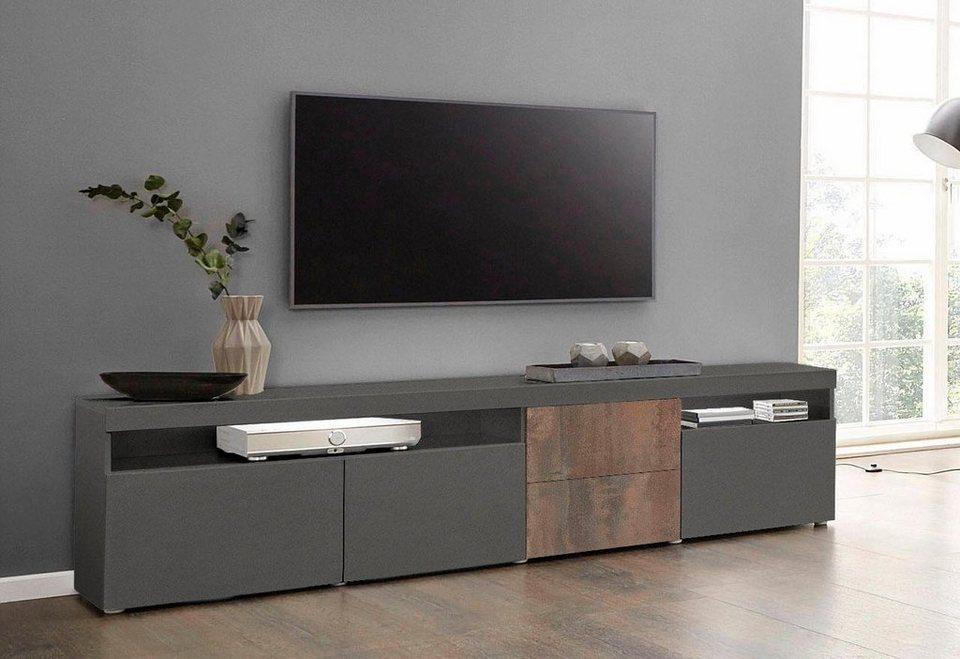 borchardt m bel lowboard kapstadt breite 200 cm mit 2 schubk sten online kaufen otto. Black Bedroom Furniture Sets. Home Design Ideas