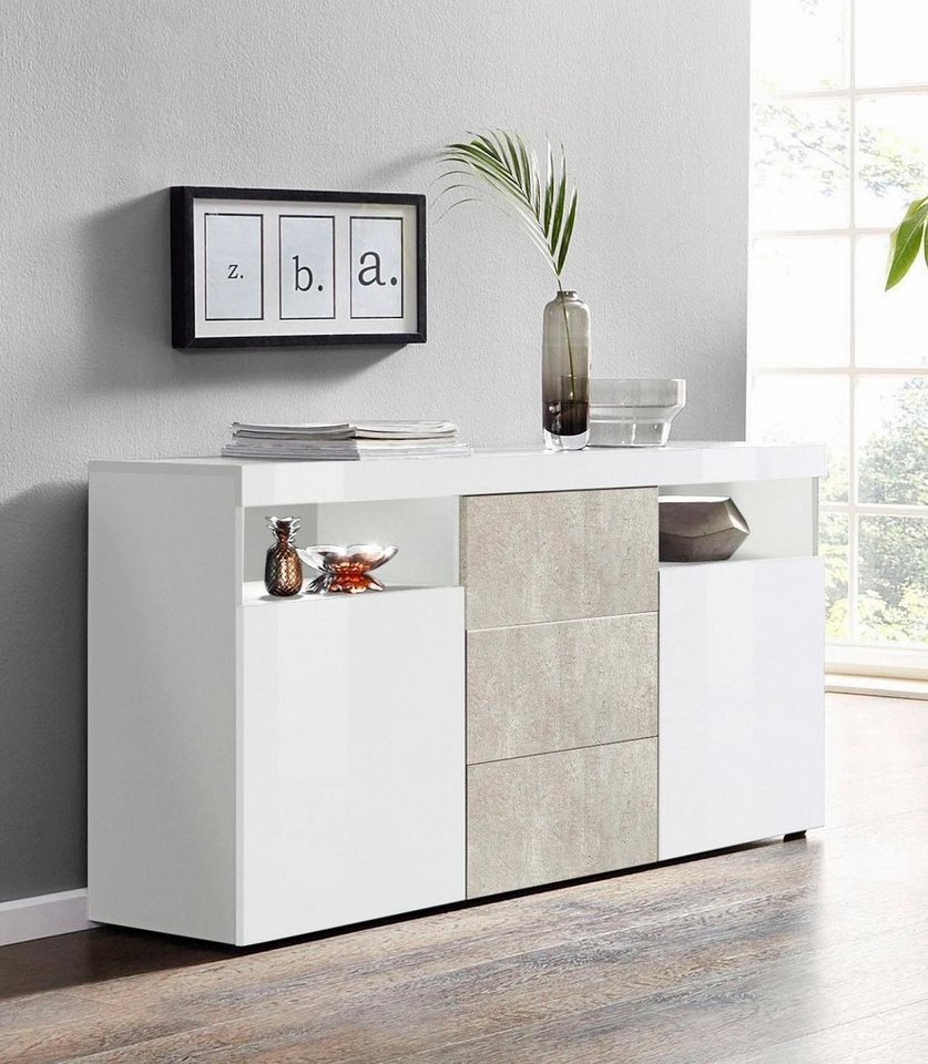 borchardt möbel sideboard »kapstadt«, breite 139 cm online kaufen | otto