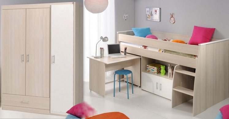 parisot kinderzimmer set charly 2 tlg kaufen otto. Black Bedroom Furniture Sets. Home Design Ideas