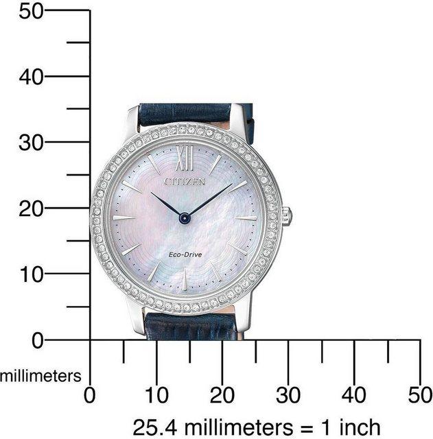 Citizen Solaruhr »EX1480-15D« mit echtem Perlmutt Zifferblatt | Uhren > Solaruhren | Blau | Citizen