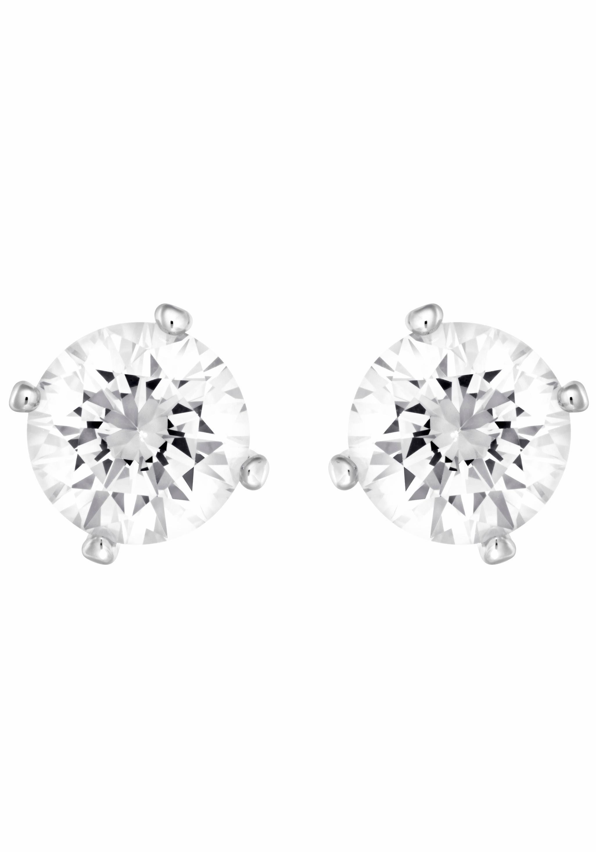 Swarovski Paar Ohrstecker »ATTRACT PEARL, WEISS, RHODINIERT, 5183618« mit Swarovski® Kristallen