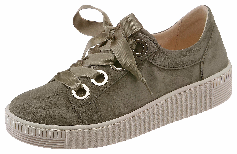 Gabor Sneaker, mit Außenreißverschluss, grün, 43 43