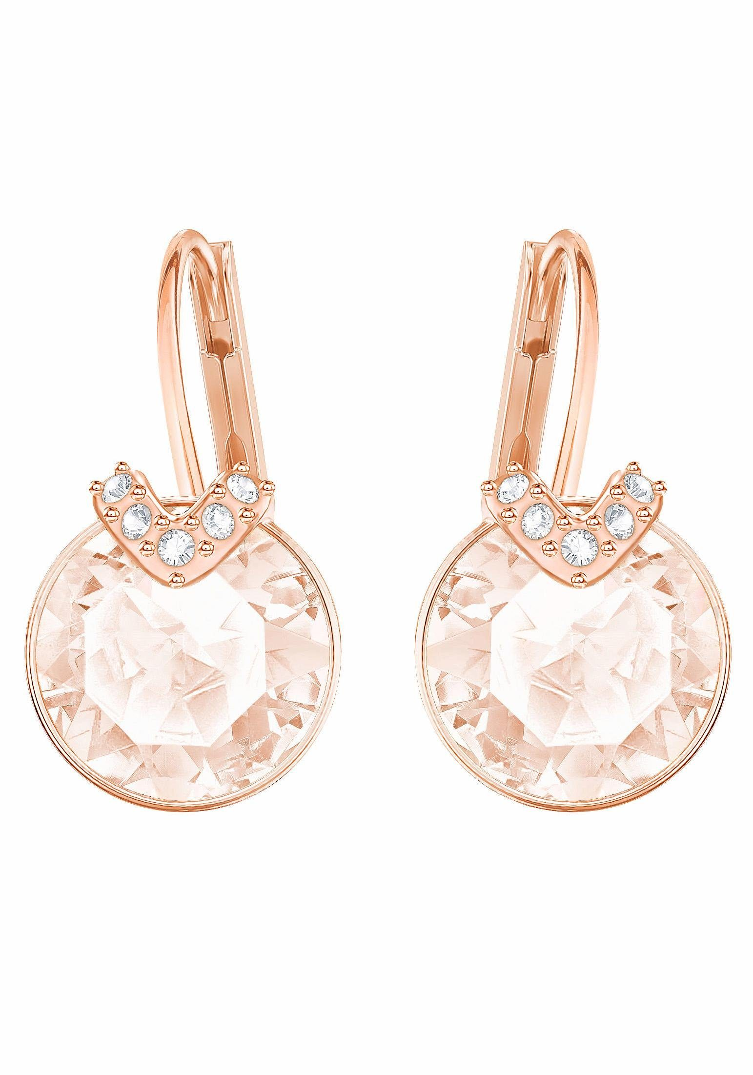 Swarovski Paar Ohrhänger »BELLA V, ROSA, ROSÈ VERGOLDUNG, 5299318« mit Swarovski® Kristallen