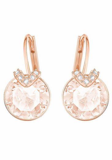 Swarovski Paar Ohrhänger »BELLA V, ROSA, ROSÈ VERGOLDUNG, 5299318«, mit Swarovski® Kristallen