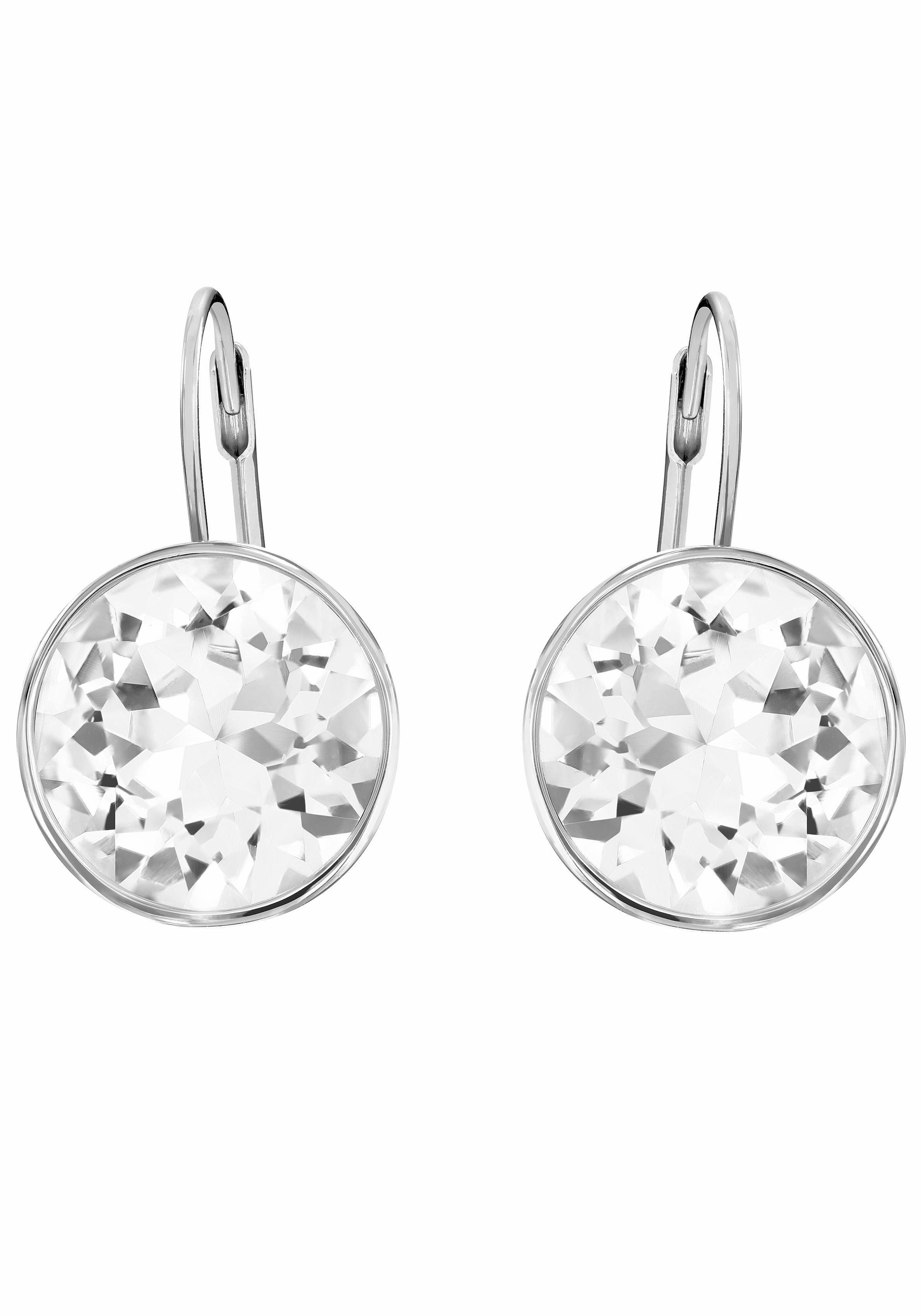 Swarovski Paar Ohrhänger »BELLA, WEISS, RHODINIERT, 883551« mit Swarovski® Kristallen