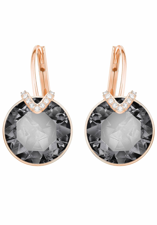 Swarovski Paar Ohrhänger »BELLA V, GROSS, GRAU, ROSÈ VERGOLDUNG, 5353202« mit Swarovski® Kristallen