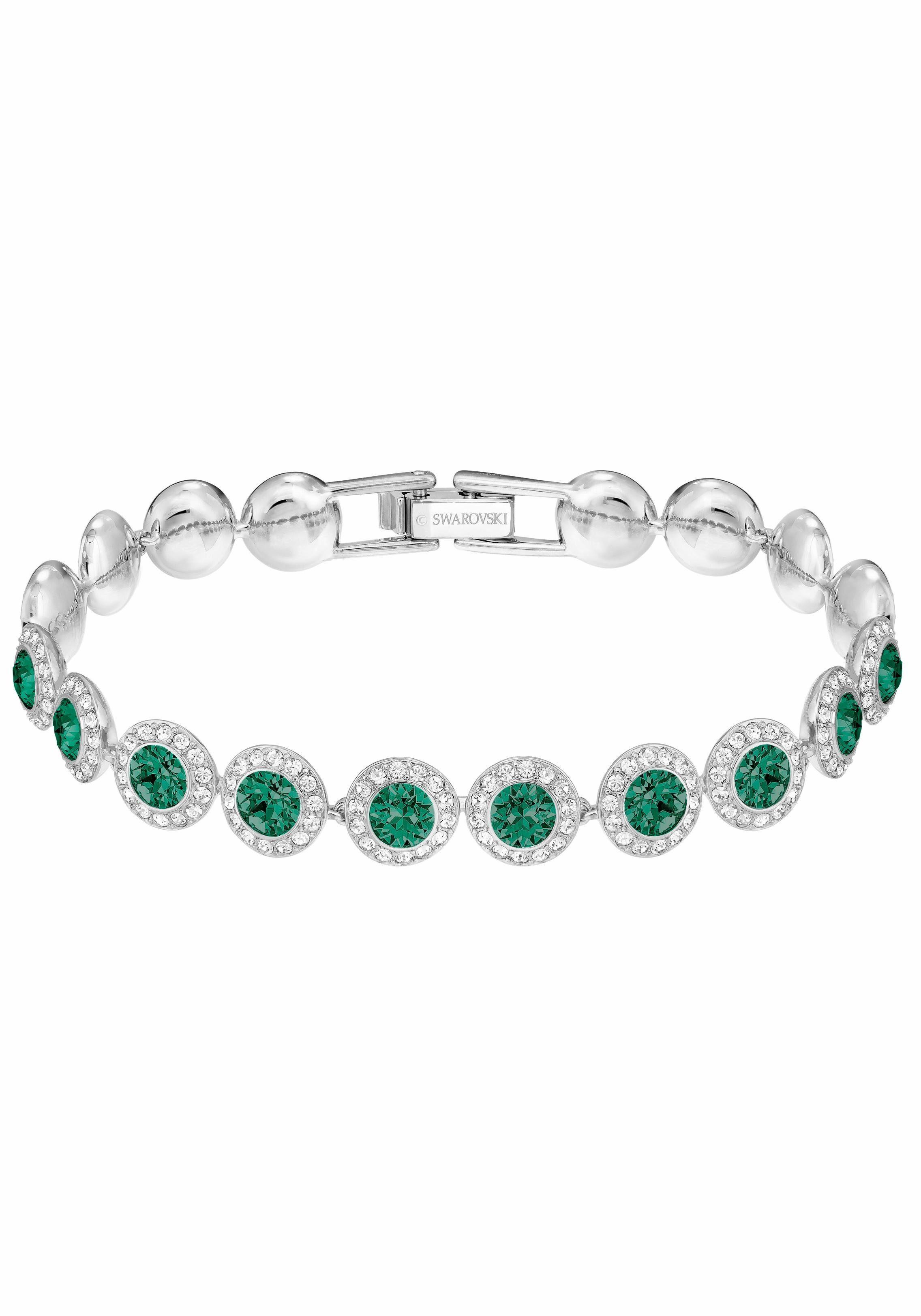 Swarovski Armband »ANGELIC, GRÜN, RHODINIERT, 5237769« mit Swarovski® Kristallen