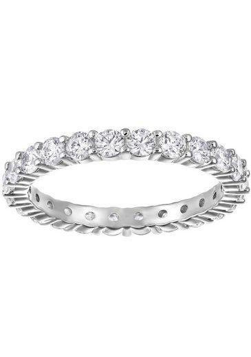 Swarovski Fingerring »VITTORE XL, WEISS, RHODINIERT, 5257465, 5237742, 5257479«, mit Swarovski® Kristallen
