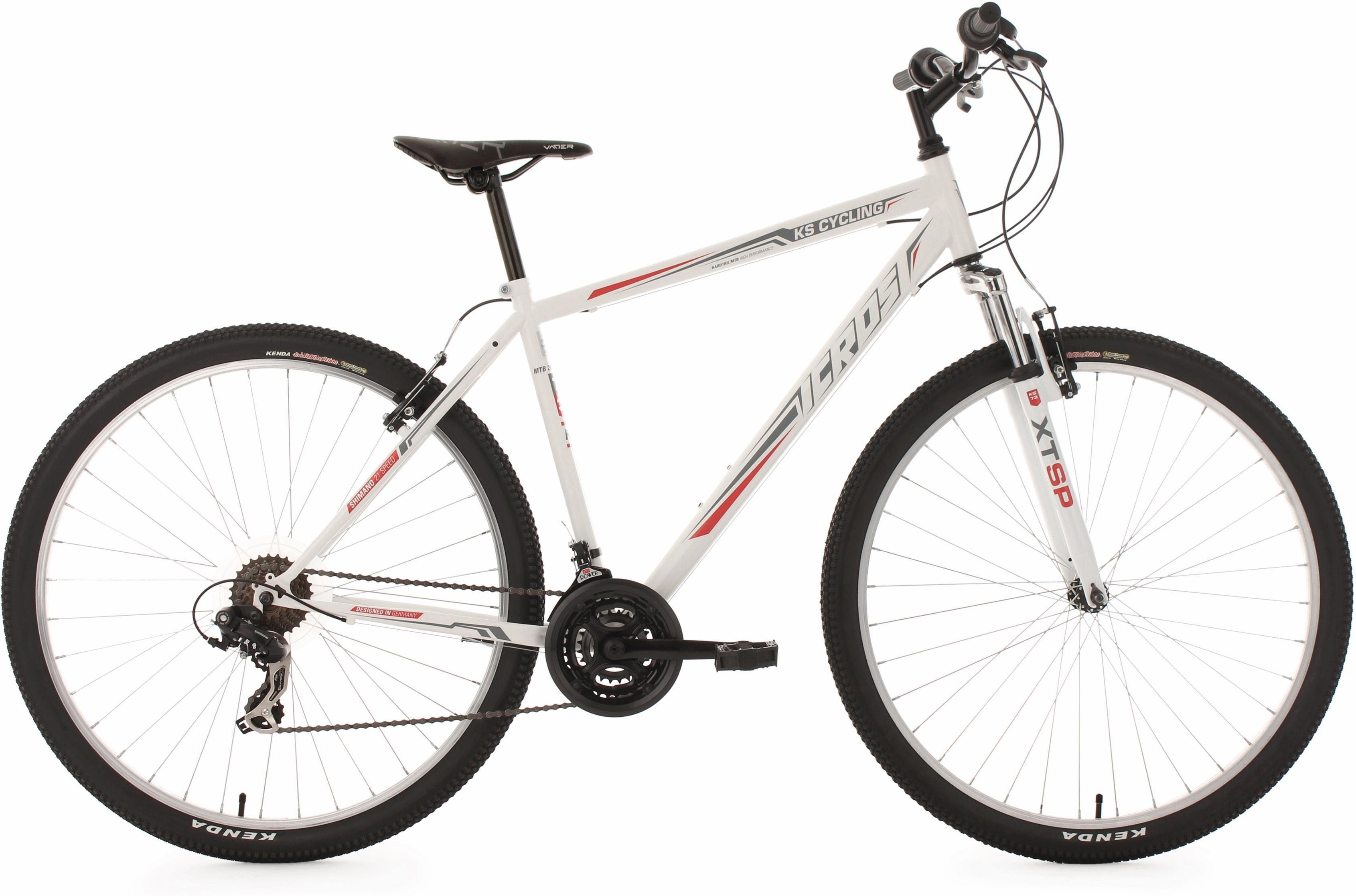 KS Cycling Hardtail Mountainbike, 29 Zoll, weiß-rot, 21 Gang-Kettenschaltung, »Icros«