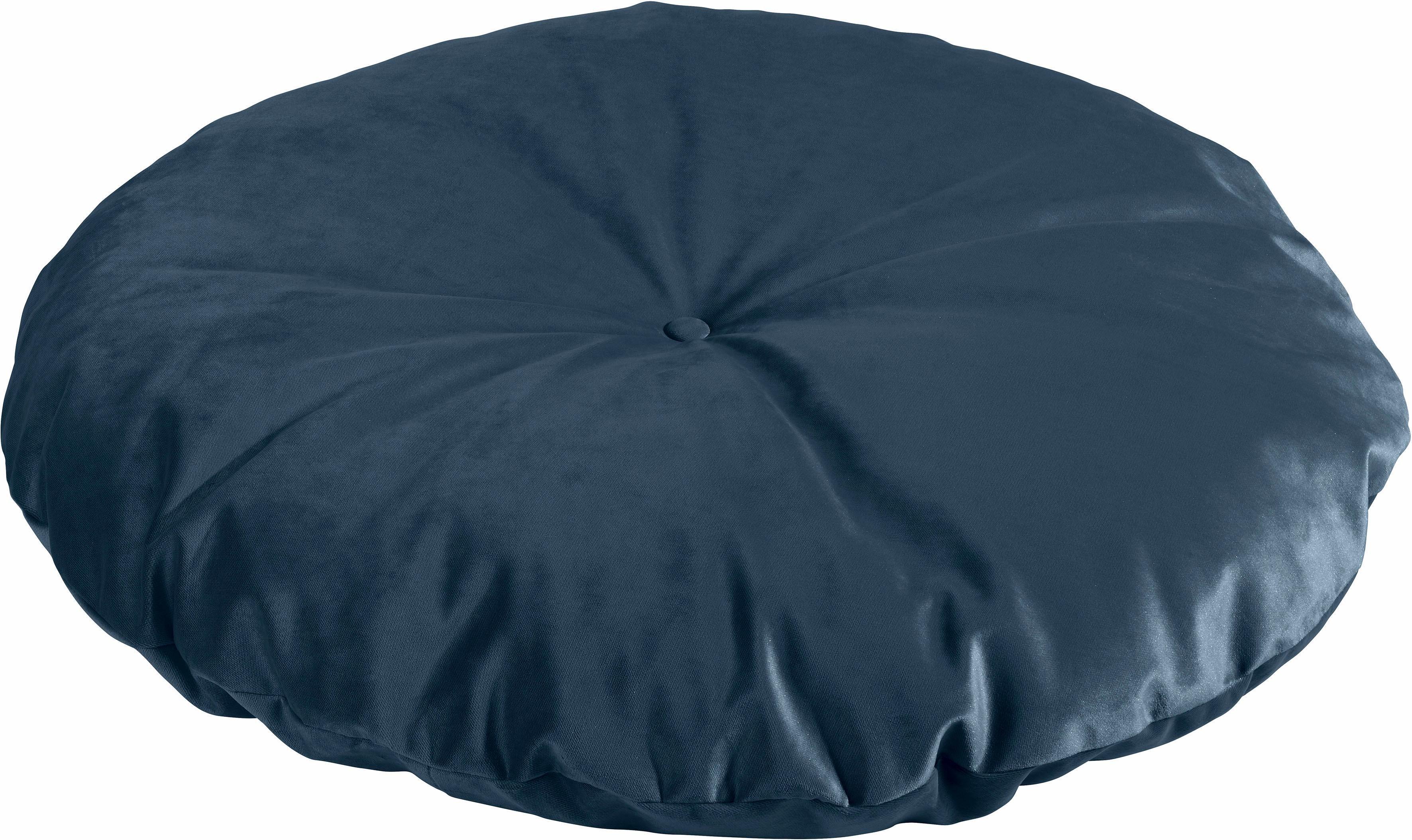 Max Winzer® Bodenkissen unifarben, in 2 Größen | Wohnzimmer > Sessel > Sitzsaecke | Samtvelours | Max Winzer®