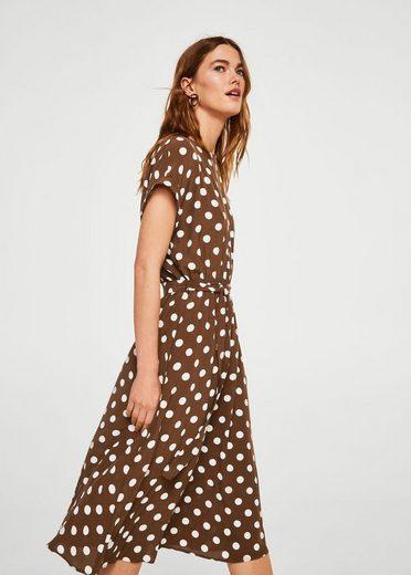 MANGO Midi-Kleid mit Tupfenmuster