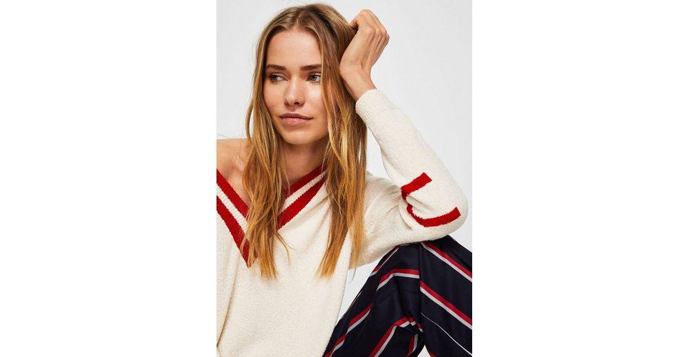 MANGO Pullover mit kontrastierendem V-Ausschnitt 2018 Unisex Zum Verkauf xLayKjj