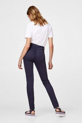 ESPRIT COLLECTION High-Waist-Pants aus softem Stretch-Satin