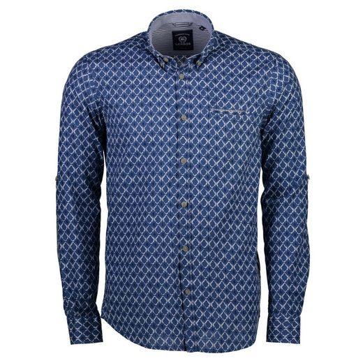 LERROS Langarmhemd mit Krempelärmeln