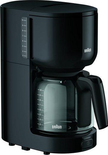 Braun Filterkaffeemaschine KF 3120 BK, Papierfilter 1x4