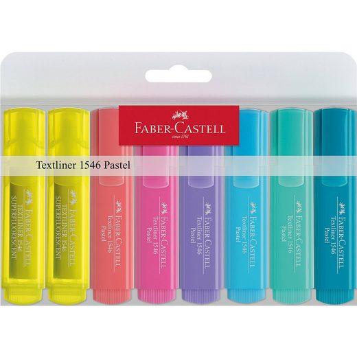 Faber-Castell Textmarker Superflourescent Pastell, 8 Faben