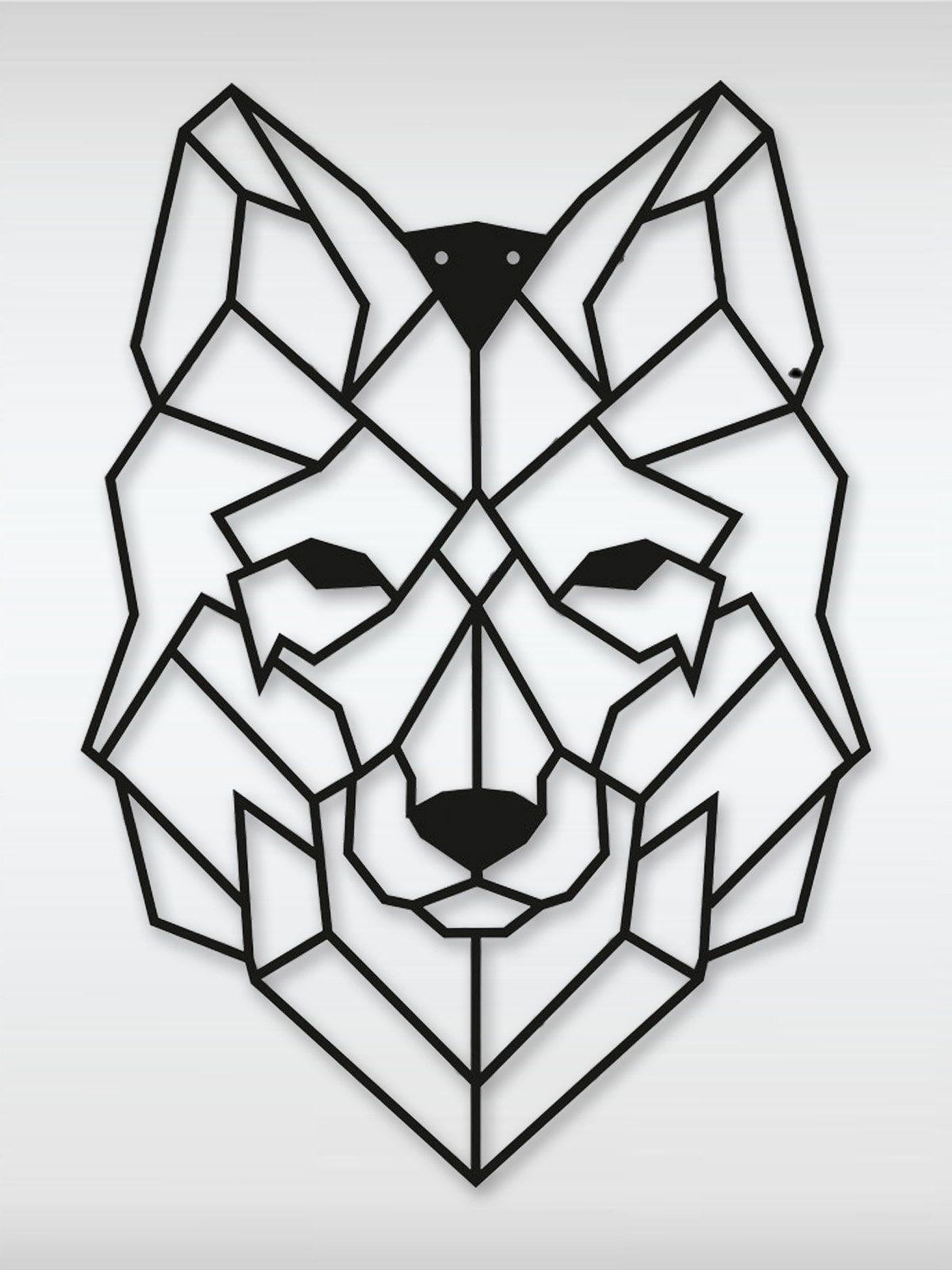roombird Metall-Bild mit Motiv zur Wanddekoration. Ein Highlight. »Metallbild Wolf 50 x 70 cm«