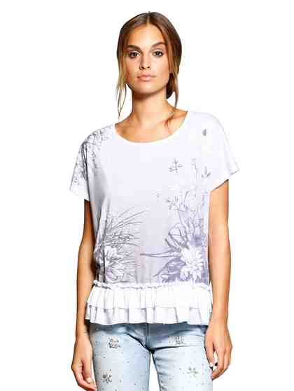 Alba Moda Shirt mit Rückenteil aus Chiffon