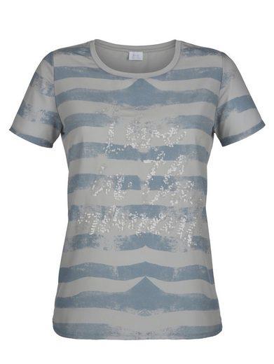 Alba Moda Shirt mit Paillettenschriftzug