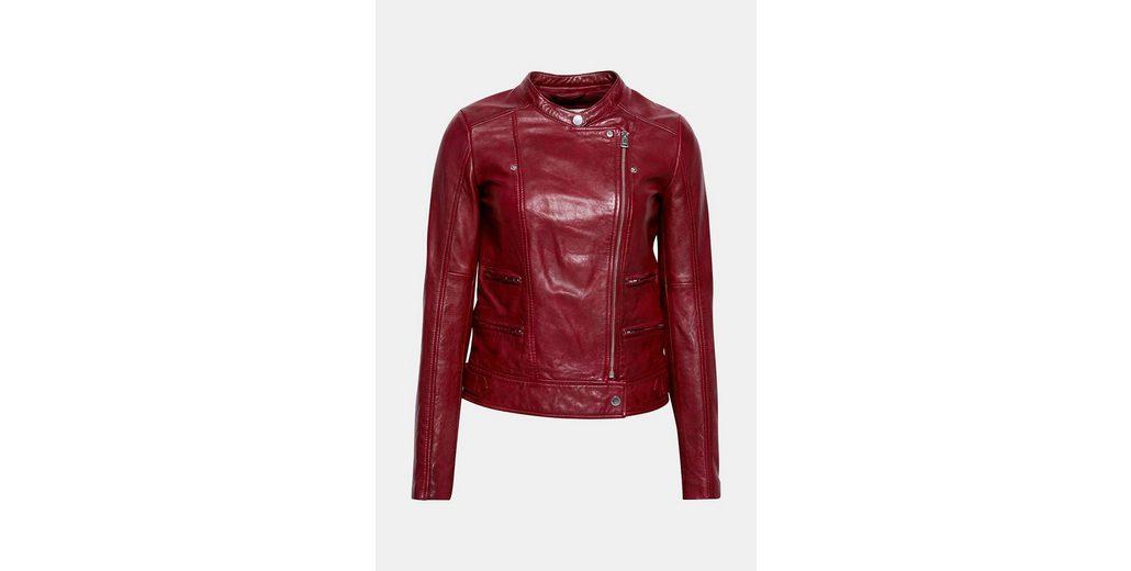 EDC BY ESPRIT Softe Leder-Jacke im Biker-Stil Vorbestellung Billig Zahlen Mit Paypal Rabatt Manchester Großer Verkauf Billig Freies Verschiffen Pt00O0wSbx