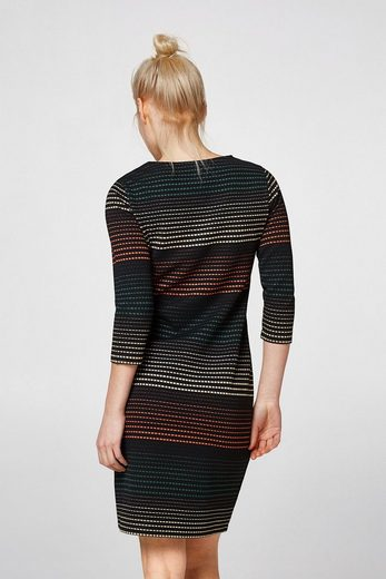 Stripes Edc By Esprit Waisted Dress With Jacquard