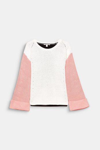 ESPRIT Lässiger Colorblock-Pullover, Baumwoll-Mix