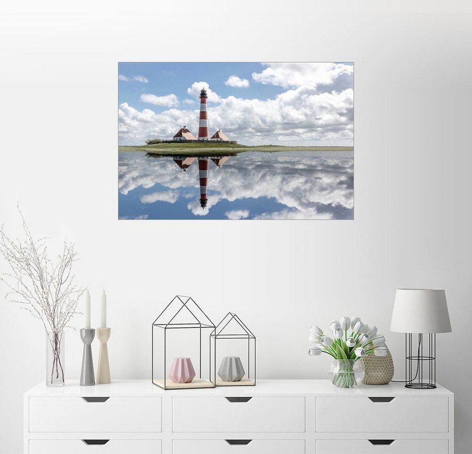 Posterlounge Wandbild Filtergrafia Westerhever Leuchtturm An Der
