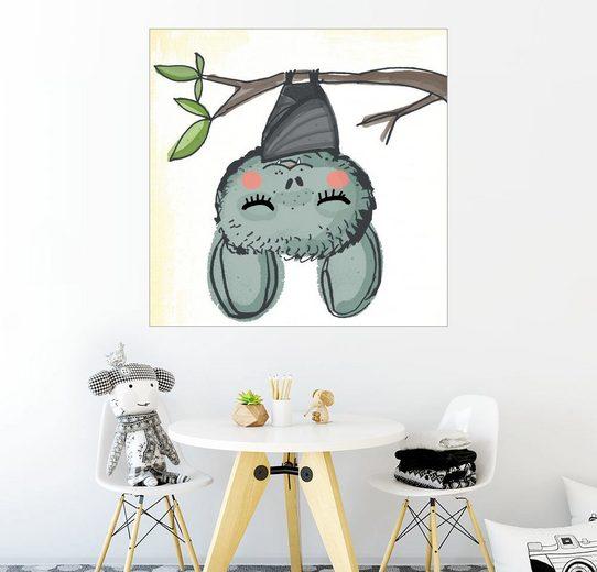 Posterlounge Wandbild - Little Miss Arty »Fledermaus Livia hängt ab«