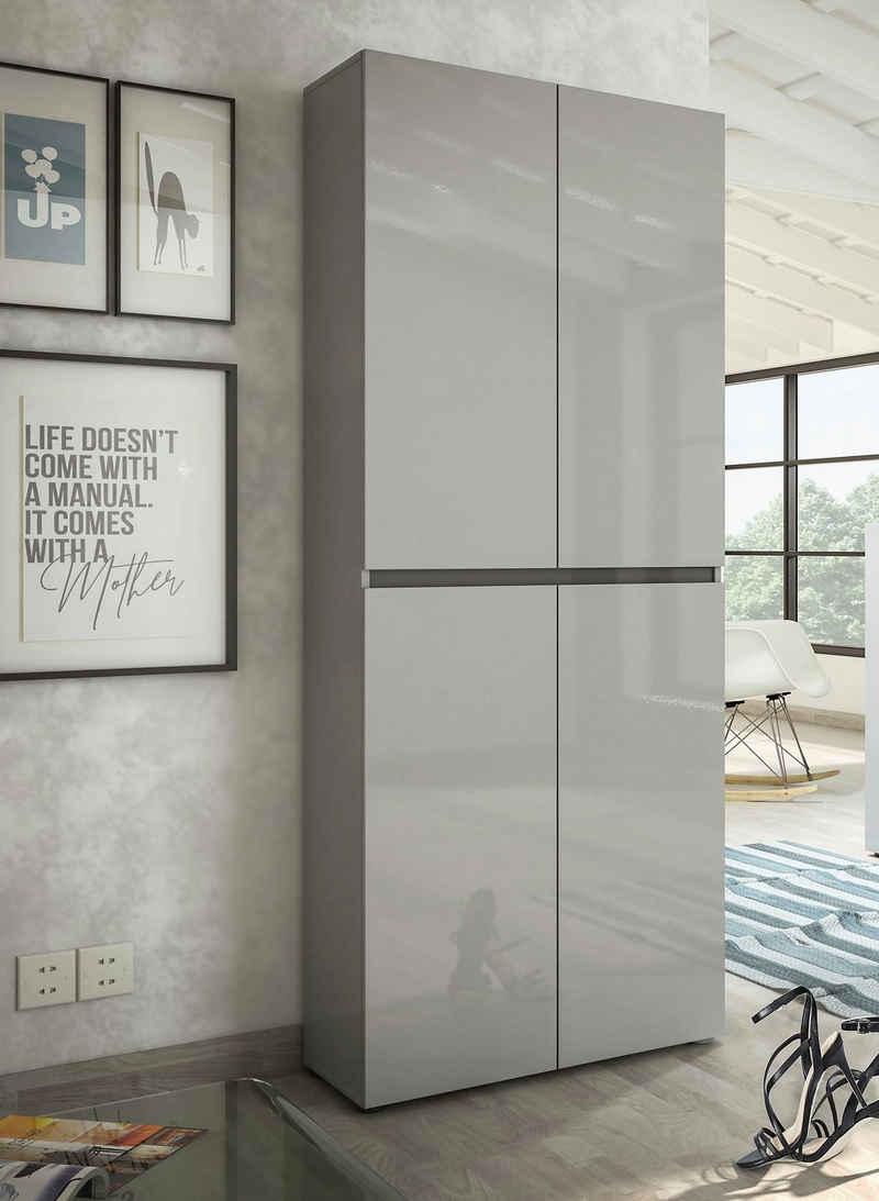 KITALY Schuhschrank »Mister« Breite 80 cm, Höhe 200 cm, 4 Türen