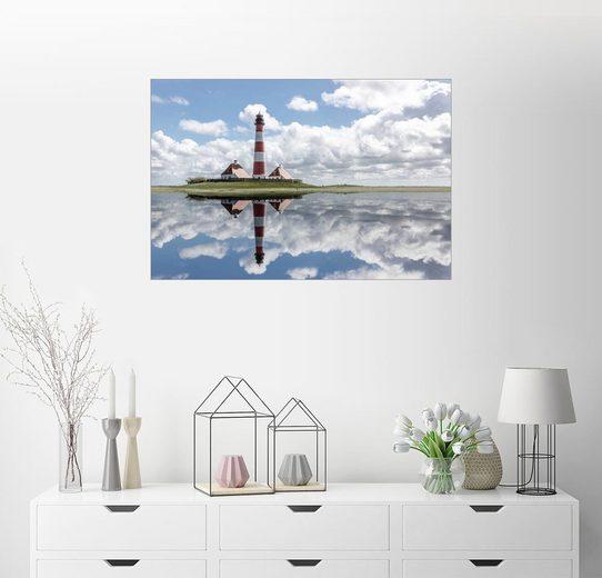 Posterlounge Wandbild - Filtergrafia »Westerhever Leuchtturm an der Nordsee«