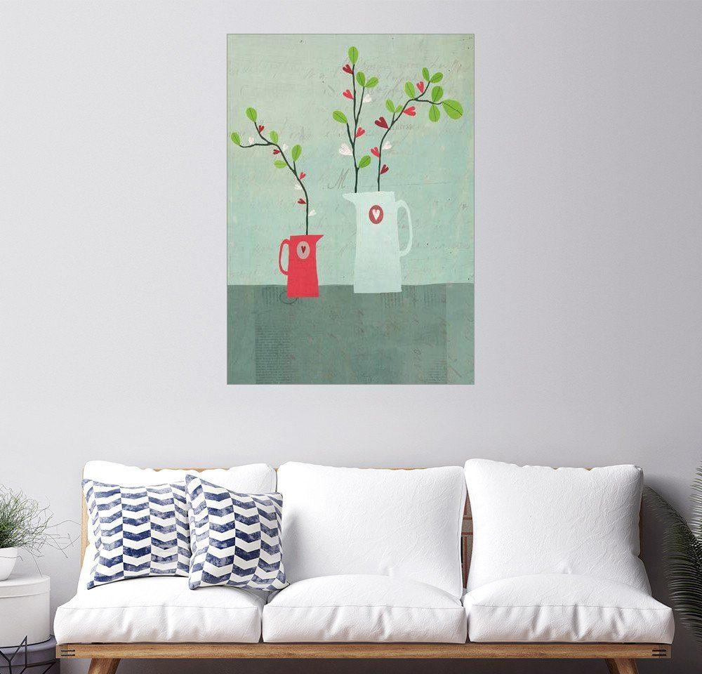 Posterlounge Wandbild - Sarah Jarrett »Krüge der Herzen«